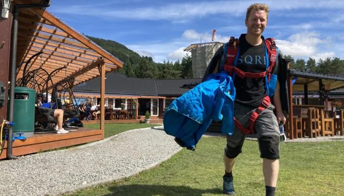 Espen Fadnes ble norsk mester i wingsuit performance, igjen