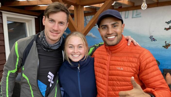 Christiane og Shawn (th) var med på Volare også i 2019. Her er de sammen med Julian Frayne (tv)