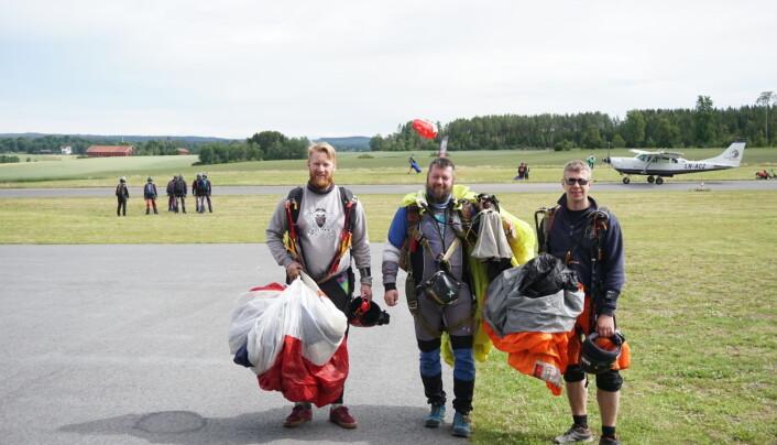 God aktivitet på Rakkestad. Nærmest fra venstre Marius Abelsen, Ronny Haugen og Tommy Botn Jensen