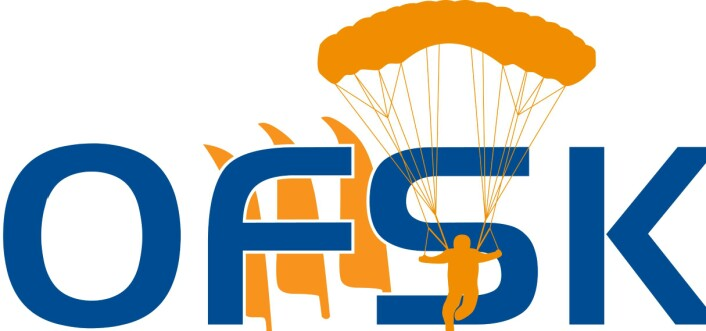 Den forrige logoen til Oslo Fallskjermklubb