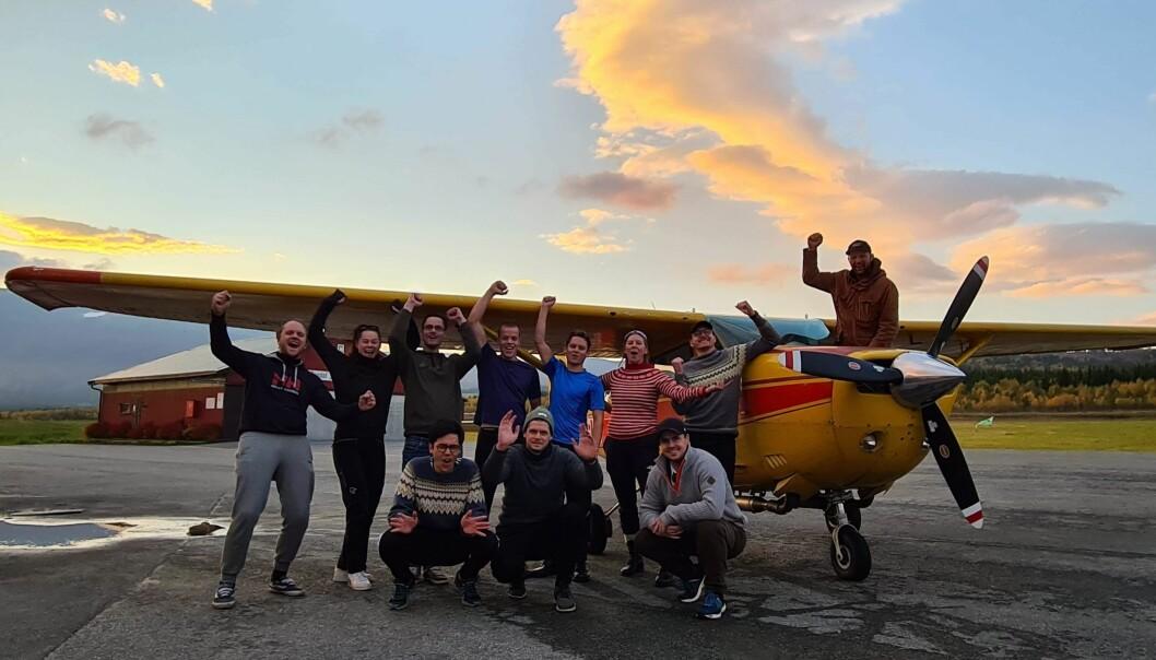 Et av årets fallskjermkurs på NTNU 2020