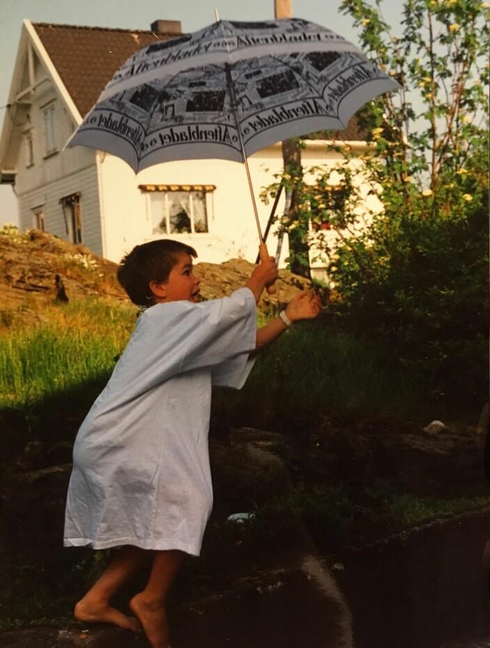 Mitt første hopp, ca 1991