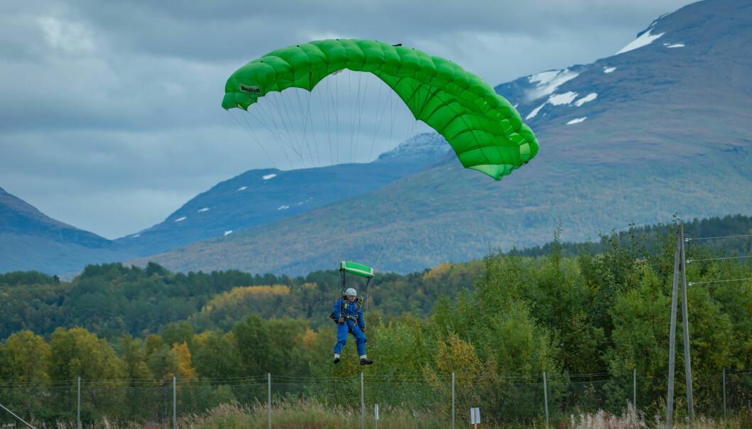 Jørgen Ridderseth kommer inn for landing
