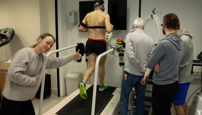 Ditta Valsdottir hjelper med treningsopplegg, her ved VO2-test