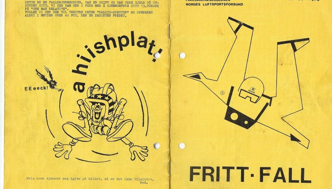 Førsteutgaven av frittfall, fra 1973