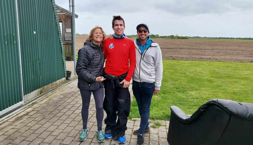 Kate Cooper-Jensen, Kjetil Nordin, og Will Penny, i Danmark i mai 2021