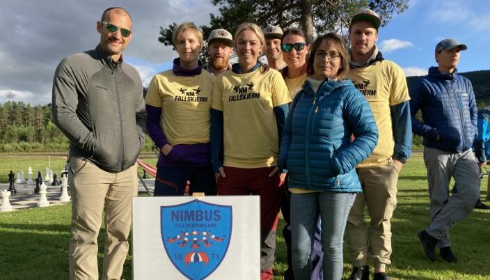 Viken Warriors, og resten av delegasjonen fra Nimbus Fallskjermklubb, fra NM 2020