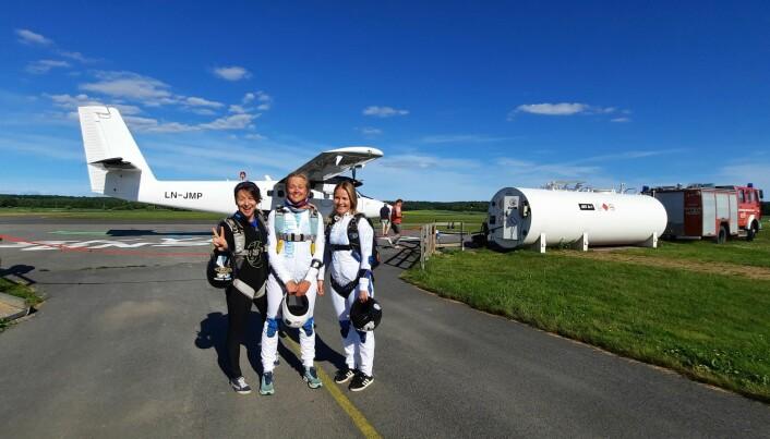 Team Aviatrix, med Anna Moxnes (tv)