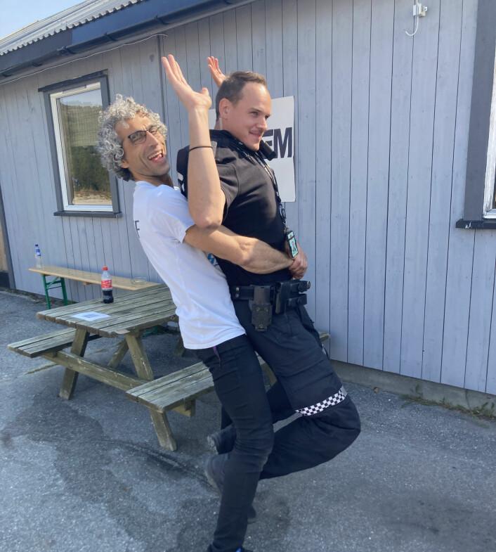Tandeminstruktøren fanget en 2 meter lang politimann