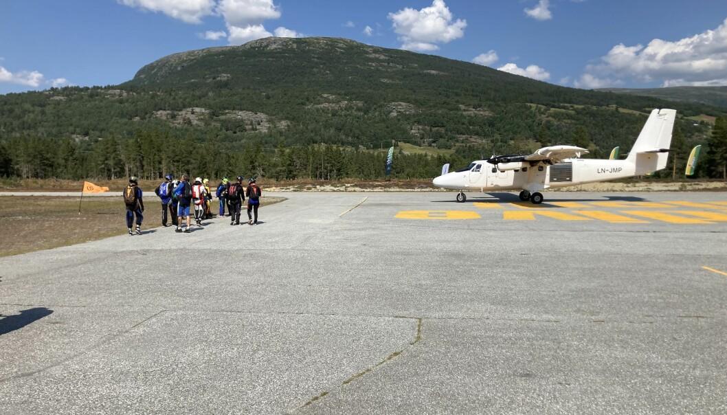 Skygod Larsen XO fra Tromsø, på vei til Jump-Off